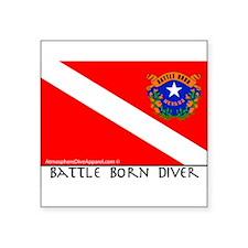 Nevada Battle Born Scuba Diver Flag Sticker