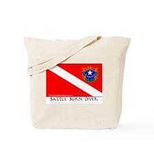 Nevada Battle Born Scuba Diver Flag Tote Bag