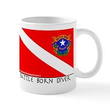 Nevada Battle Born Scuba Diver Flag Mug