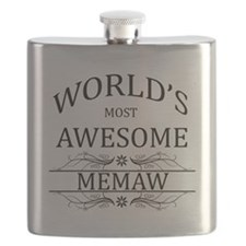World's Most Awesome Memaw Flask