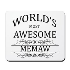 World's Most Awesome Memaw Mousepad