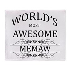 World's Most Awesome Memaw Throw Blanket