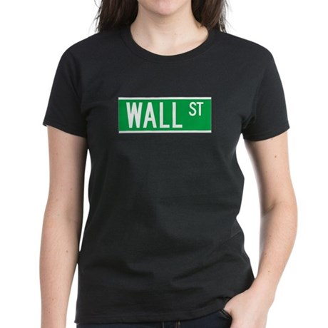 Wall St., New York - USA Women's Dark T-Shirt