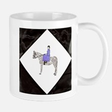 Hand Painted SideSaddle Rider Mug