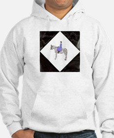 Hand Painted SideSaddle Rider Hoodie