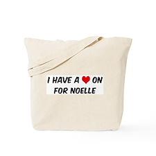 Heart on for Noelle Tote Bag