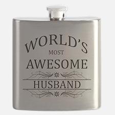 World's Most Awesome Husband Flask