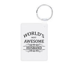 World's Most Awesome Husband Keychains