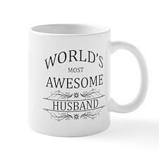 World's Most Awesome Husband Small Mug