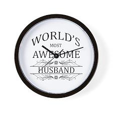 World's Most Awesome Husband Wall Clock