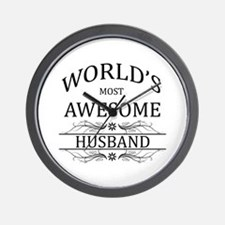World's Most Awesome Husband Wall Clock