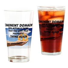 Eminent Domain Drinking Glass
