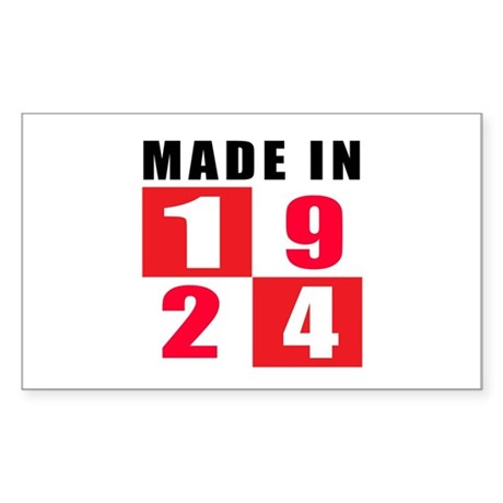 Made In 1924 Sticker (Rectangle 50 pk)
