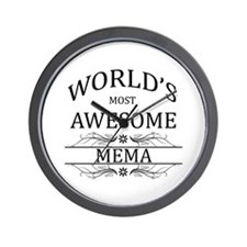 World's Most Awesome Mema Wall Clock