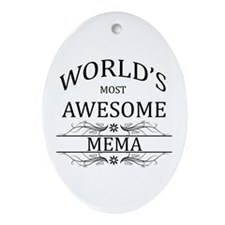 World's Most Awesome Mema Ornament (Oval)