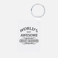 World's Most Awesome Great Grandpa Keychains