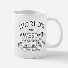 World's Most Awesome Great Grandpa Small Mugs