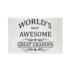 World's Most Awesome Great Grandpa Rectangle Magne