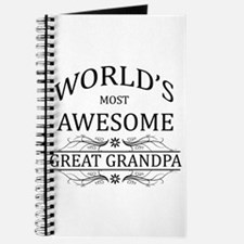 World's Most Awesome Great Grandpa Journal