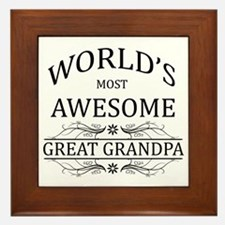 World's Most Awesome Great Grandpa Framed Tile