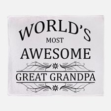 World's Most Awesome Great Grandpa Throw Blanket