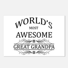 World's Most Awesome Great Grandpa Postcards (Pack