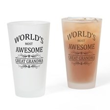 World's Most Awesome Great Grandma Drinking Glass