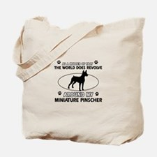 Miniature Pinscher Dog breed designs Tote Bag