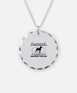 Miniature Pinscher Dog breed designs Necklace