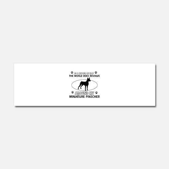 Miniature Pinscher Dog breed designs Car Magnet 10