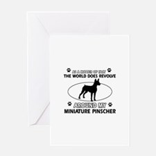 Miniature Pinscher Dog breed designs Greeting Card