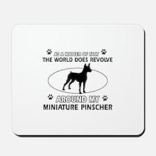Miniature Pinscher Dog breed designs Mousepad