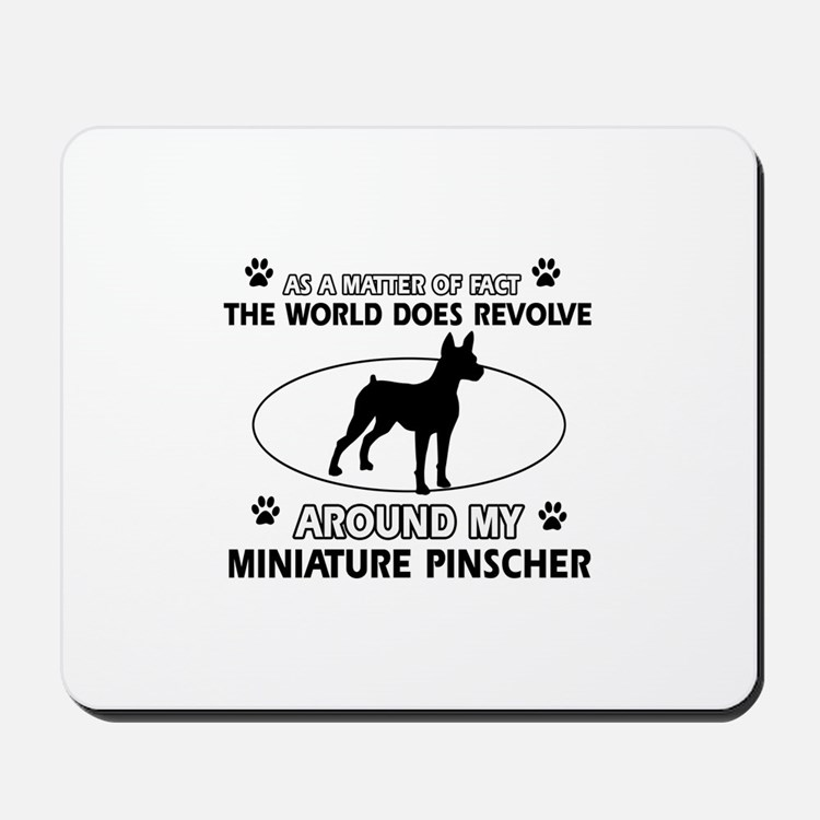 Miniature Pinscher Dog breed designs Mousepad