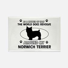 Norwich Terrier Dog breed designs Rectangle Magnet