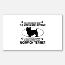 Norwich Terrier Dog breed designs Decal