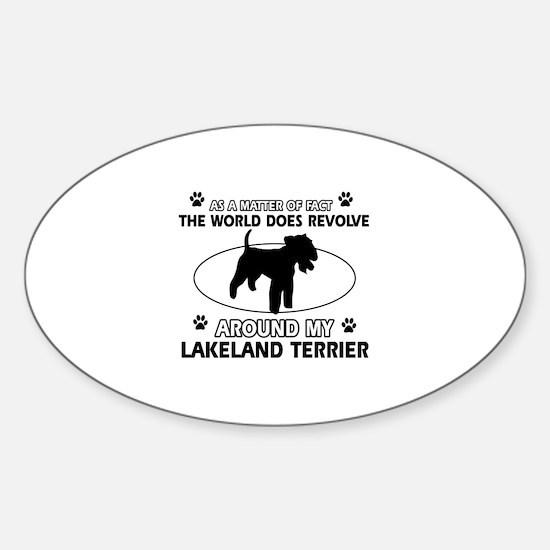 Lakeland Terrier Dog breed designs Sticker (Oval)