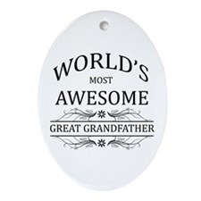 World's Most Awesome Great Grandfather Ornament (O