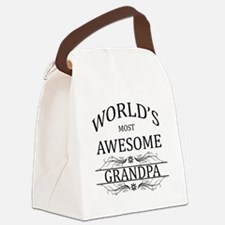 World's Most Awesome Grandpa Canvas Lunch Bag