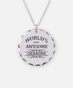 World's Most Awesome Grandpa Necklace