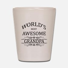 World's Most Awesome Grandpa Shot Glass