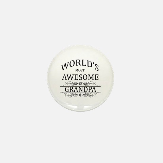 World's Most Awesome Grandpa Mini Button