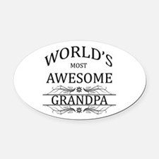 World's Most Awesome Grandpa Oval Car Magnet