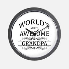 World's Most Awesome Grandpa Wall Clock
