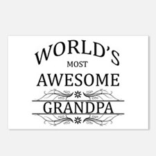 World's Most Awesome Grandpa Postcards (Package of