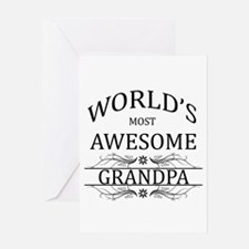 World's Most Awesome Grandpa Greeting Card