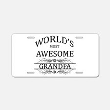 World's Most Awesome Grandpa Aluminum License Plat