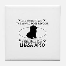 Lhasa Apso Dog breed designs Tile Coaster