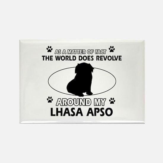 Lhasa Apso Dog breed designs Rectangle Magnet