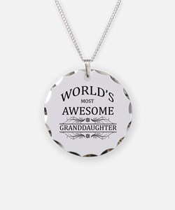 World's Most Awesome Granddaughter Necklace Circle