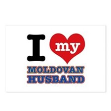 I love my Moldovan Husband Postcards (Package of 8